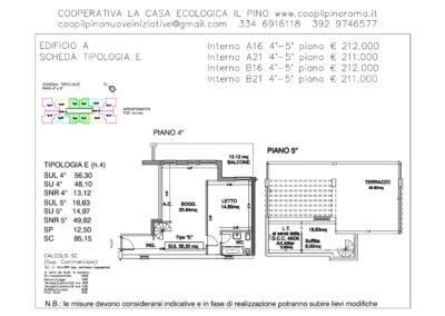 EDIFICIO A SCHEDA TIPOLOGIA E